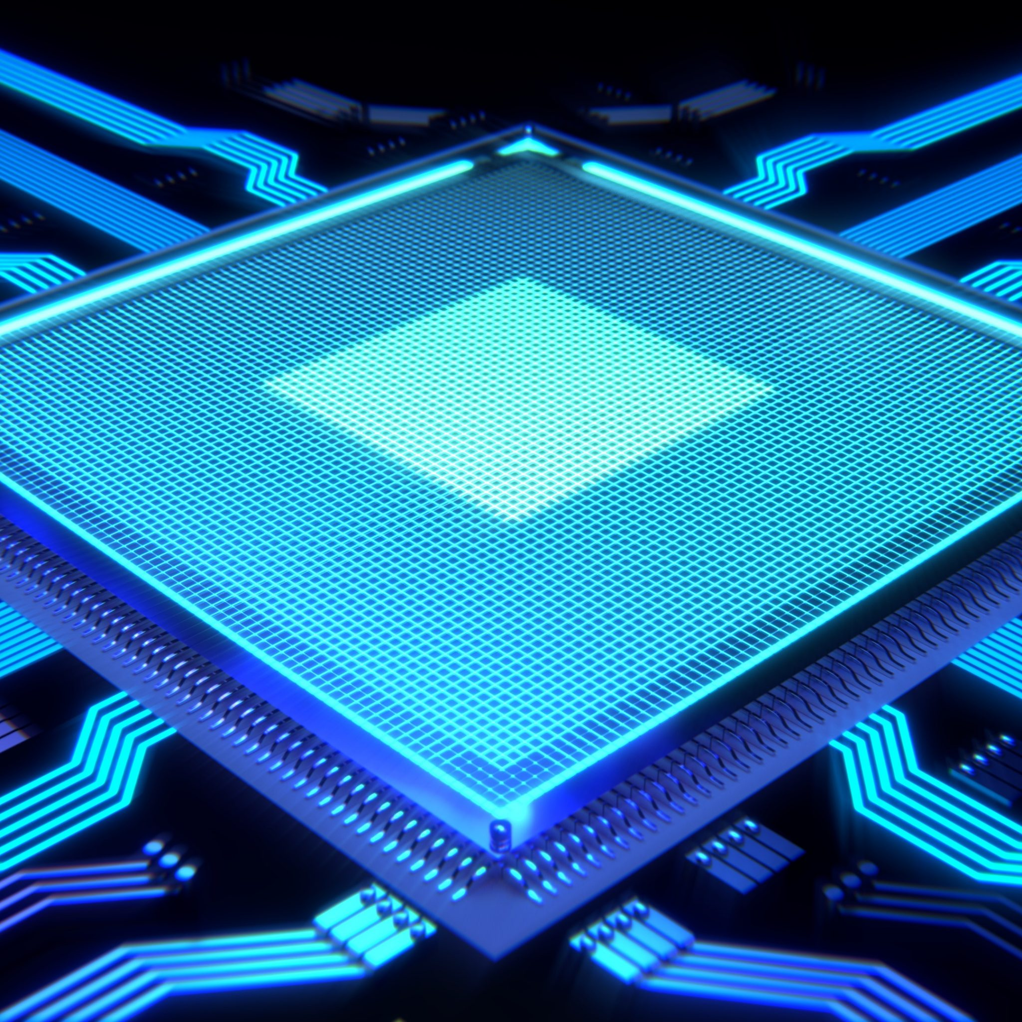 3D Processor Technology 4K UHD Wallpaper