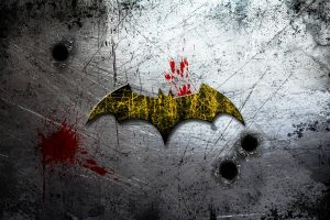 Batman Asylum Logo On Scratched Background 4K