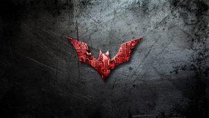 Batman Beyond Logo On Scratched Background 4K