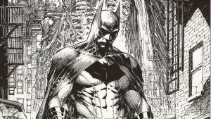 Batman Drawing (Black and White) 4K