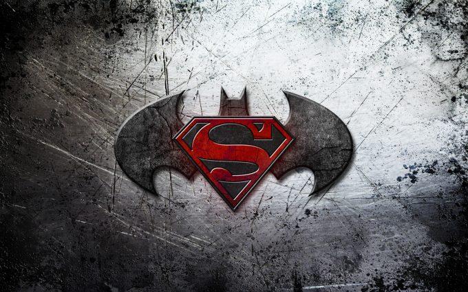 Batman v Superman Dawn of Justice Logo On Scratched Background 4K