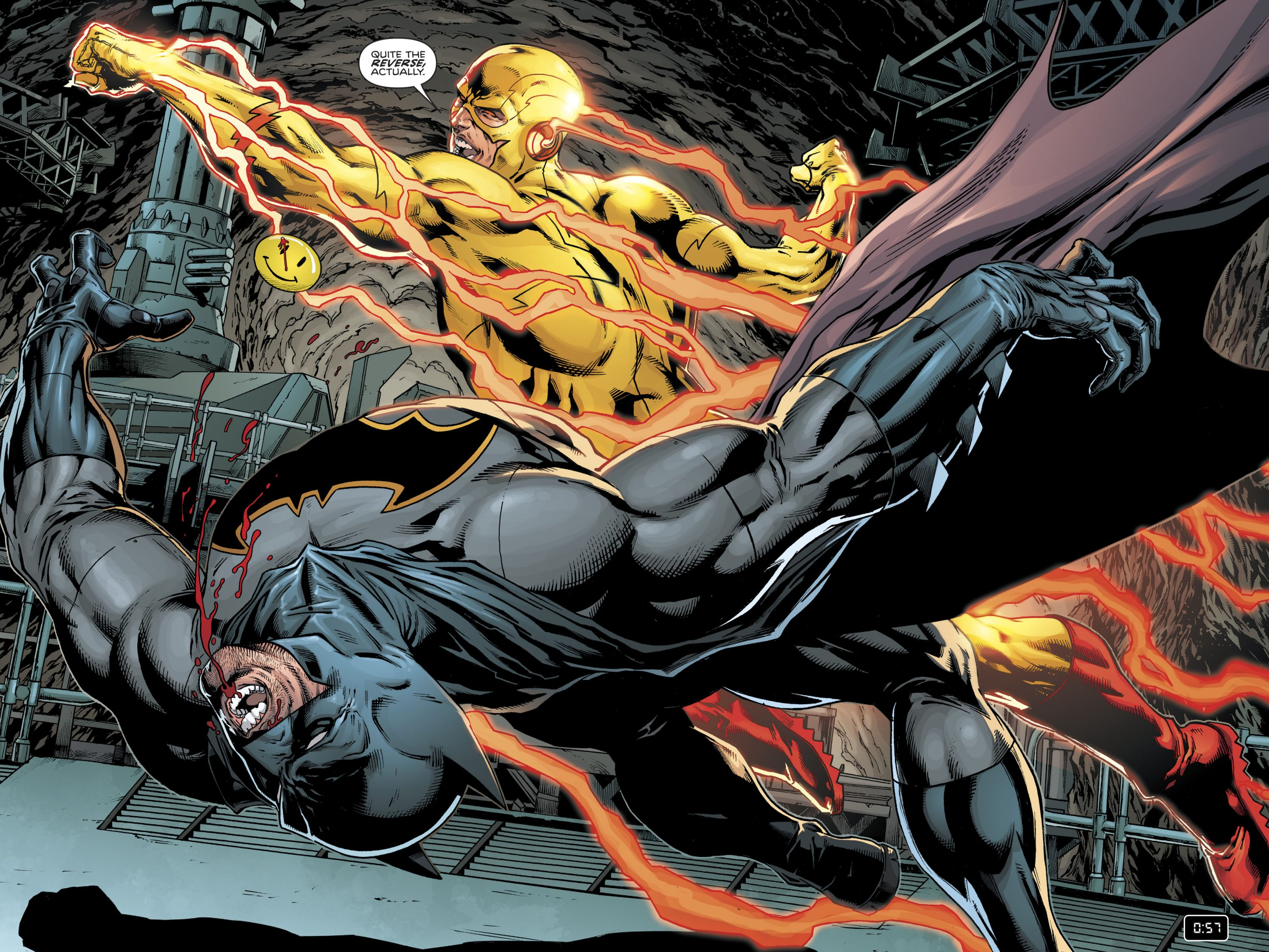 Batman Vs Reverse Flash Dc Comics 4k Uhd Wallpaper