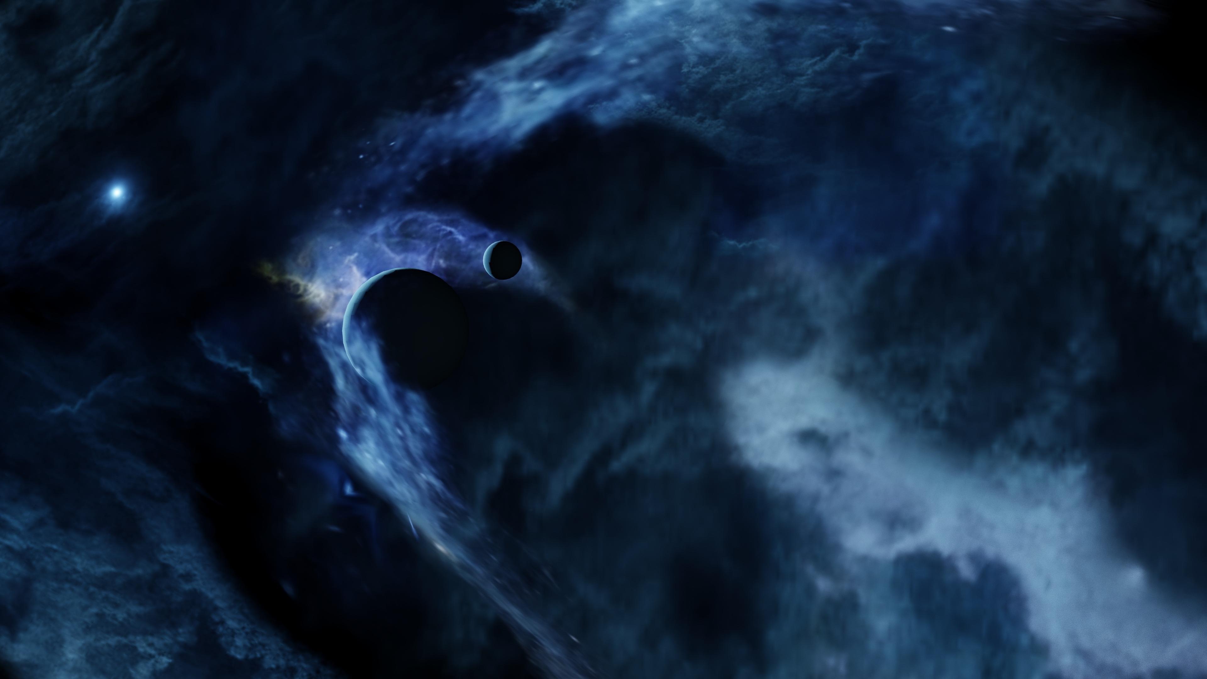 Blue Nebula 4K UHD Wallpaper | Wallpapers.gg Blue Nebula Wallpaper Widescreen
