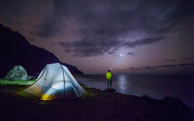Camper Looking At The Stars HD