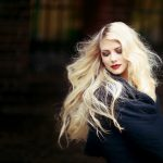Gorgeous woman with blonde hair 4k