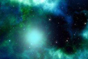 Green/Blue Galaxy 4K