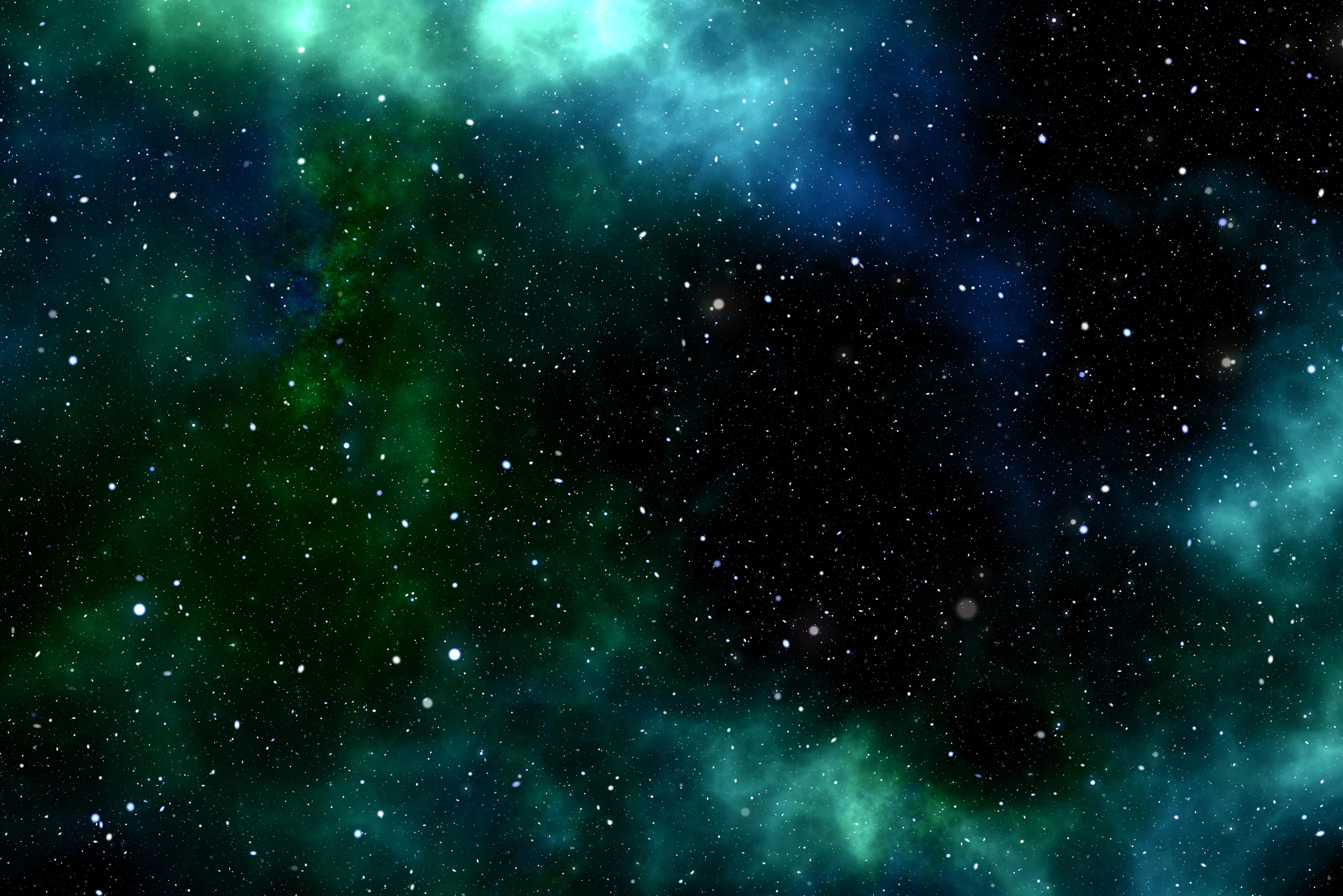 Green Galaxy 6K UHD Wallpaper