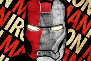 Iron Man Face Grunge 6K