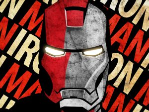 Iron Man Face (Grunge – Marvel Comics) 6K