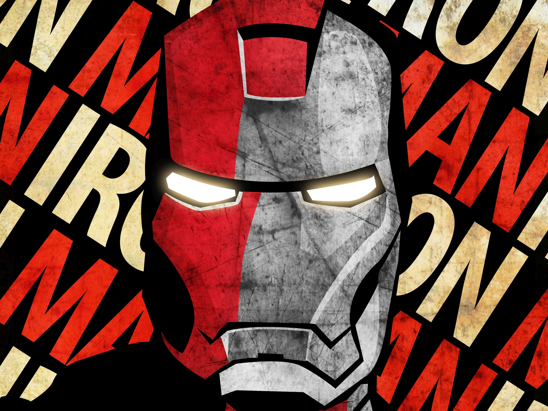 Simple Wallpaper Marvel Face - Iron-Man-Face-Grunge-6K  You Should Have_928563.jpg
