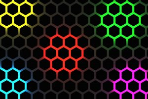 Multicolor Hexagon Pattern 4K