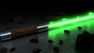 Star Wars Green Lightsaber 4K