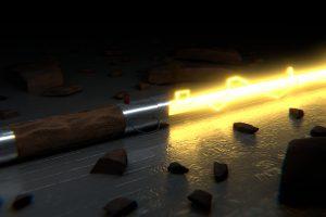 Star Wars Yellow Lightsaber 4K