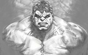The Hulk (Black And White – Marvel Comics) 5K