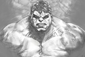 The Hulk (Black And White – Marvel Comics) 5K