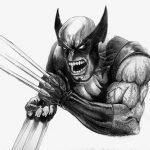 Wolverine Berserker Rage Black and White 8K