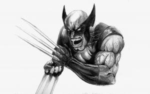 Wolverine Berserker Rage (Black and White) 8K