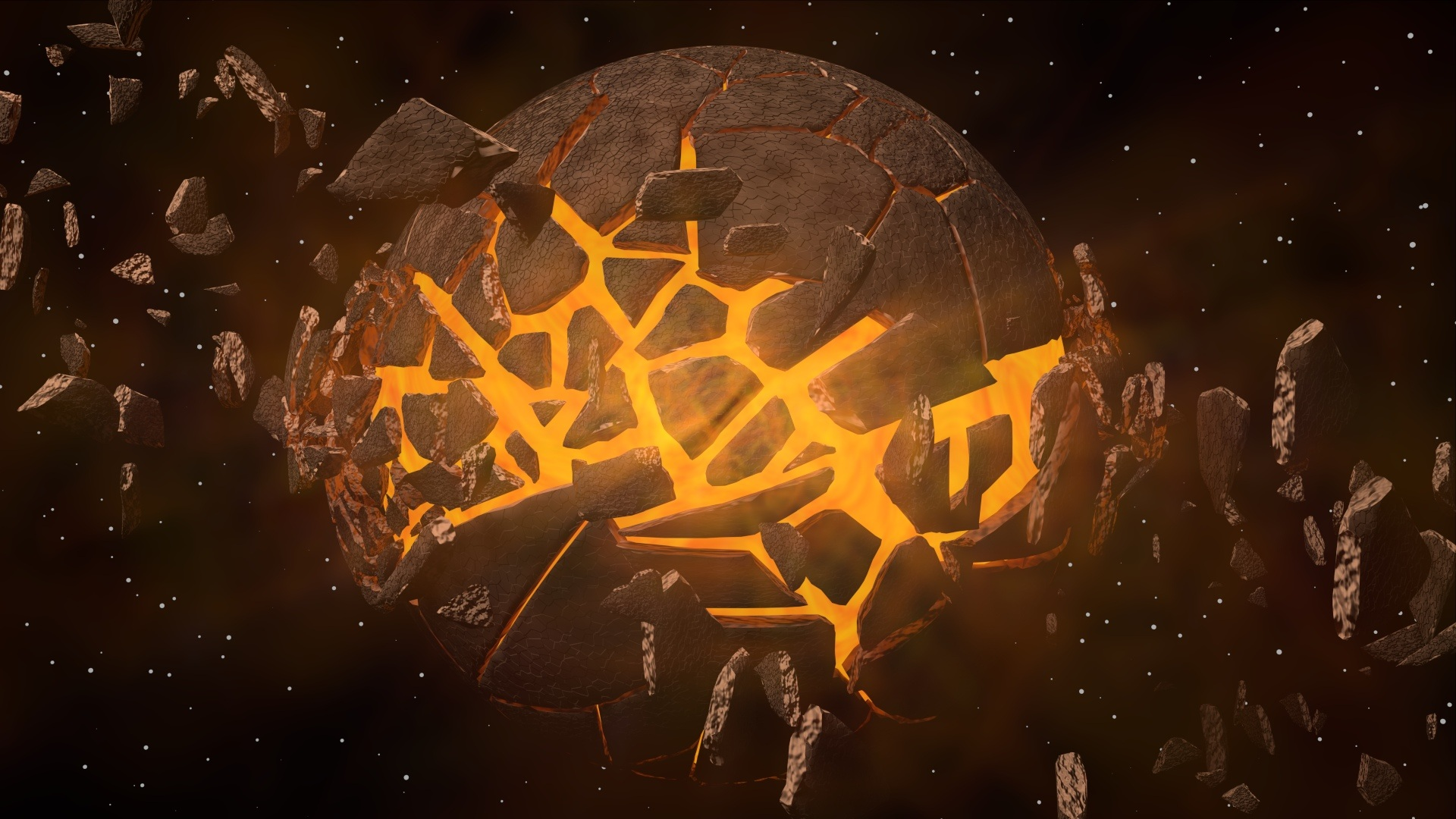 Yellow Planet Explosion HD Wallpaper   Wallpapers.gg