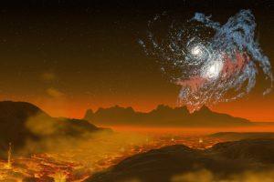 Alien Planet Lava Galaxies 4K