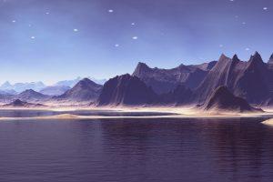 Alien Planet Mountain Lakes 4K