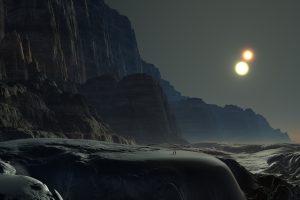 Alien Planet, Rocky Mountains 4K