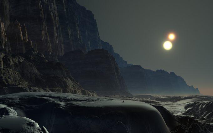 Alien Planet Rocky Mountains 4K