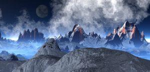 Alien Planet, Snowy Mountains 5K