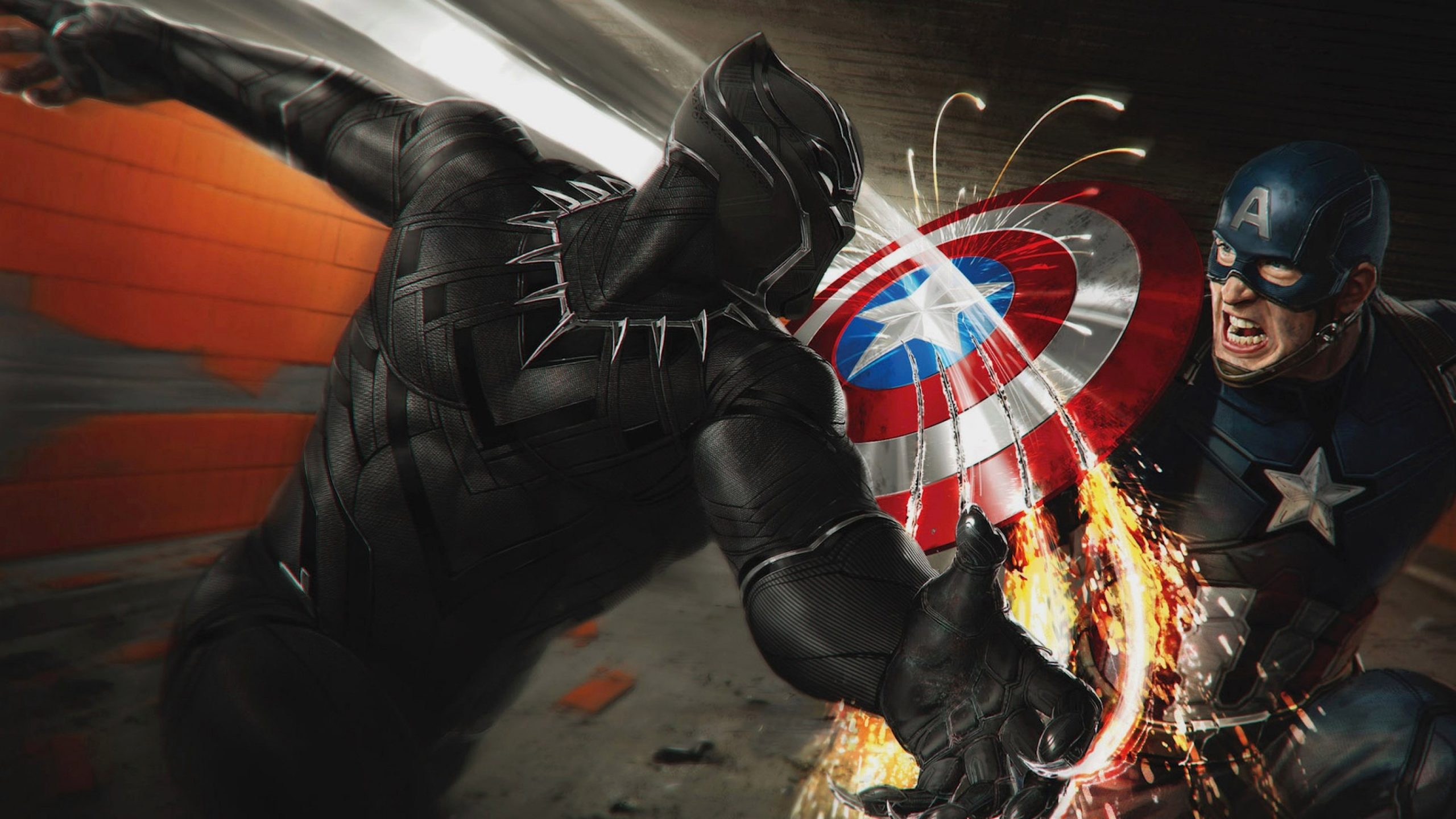 Captain America Civil War Black Panther Vs Captain America 4k