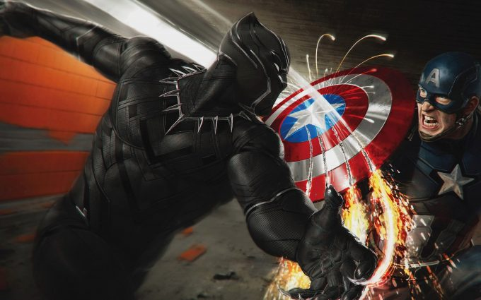 Captain America Civil War 2016 Black Panther vs Captain America 4K