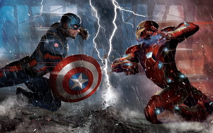 Captain America Civil War 2016 Iron Man vs Captain America 5K