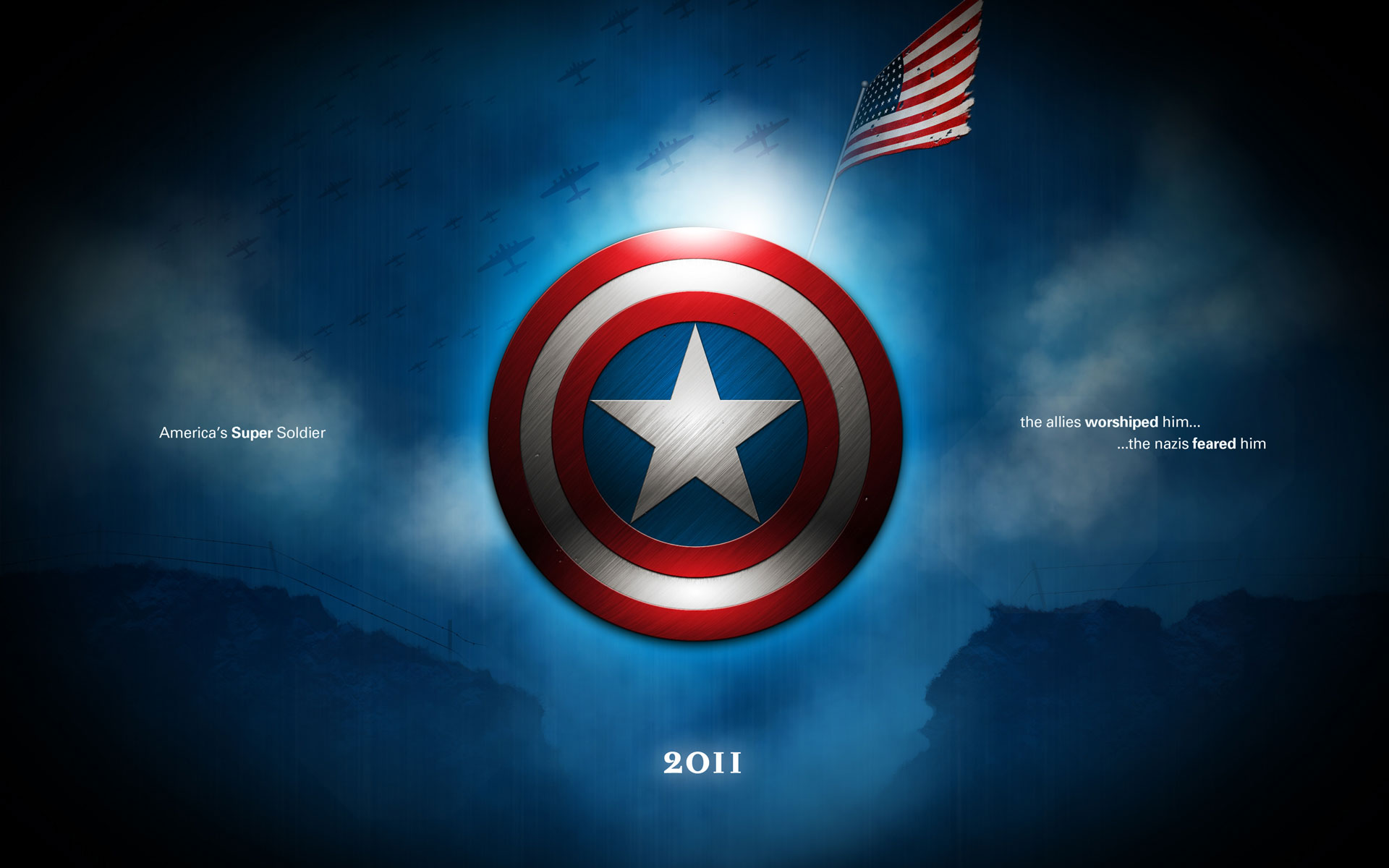 Captain America S Shield Hd Wallpaper Wallpapers Gg