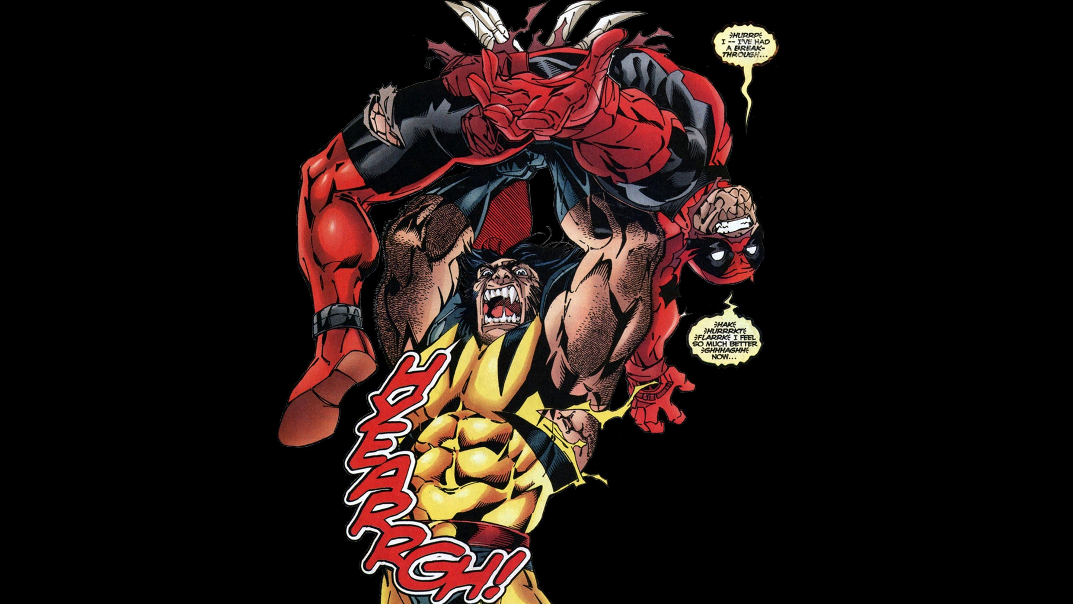 Deadpool Vs Wolverine 4k Uhd Wallpaper