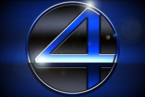 Fantastic Four 2005 Blue Logo HD