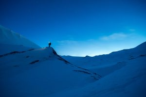 Hiking In The Snow At Nightfall 5K