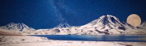 Milky Way Over Snowy Mountains HD