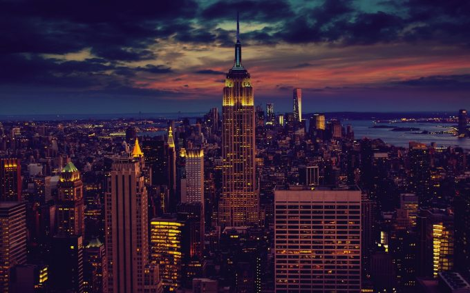 New York City At Nightfall HD