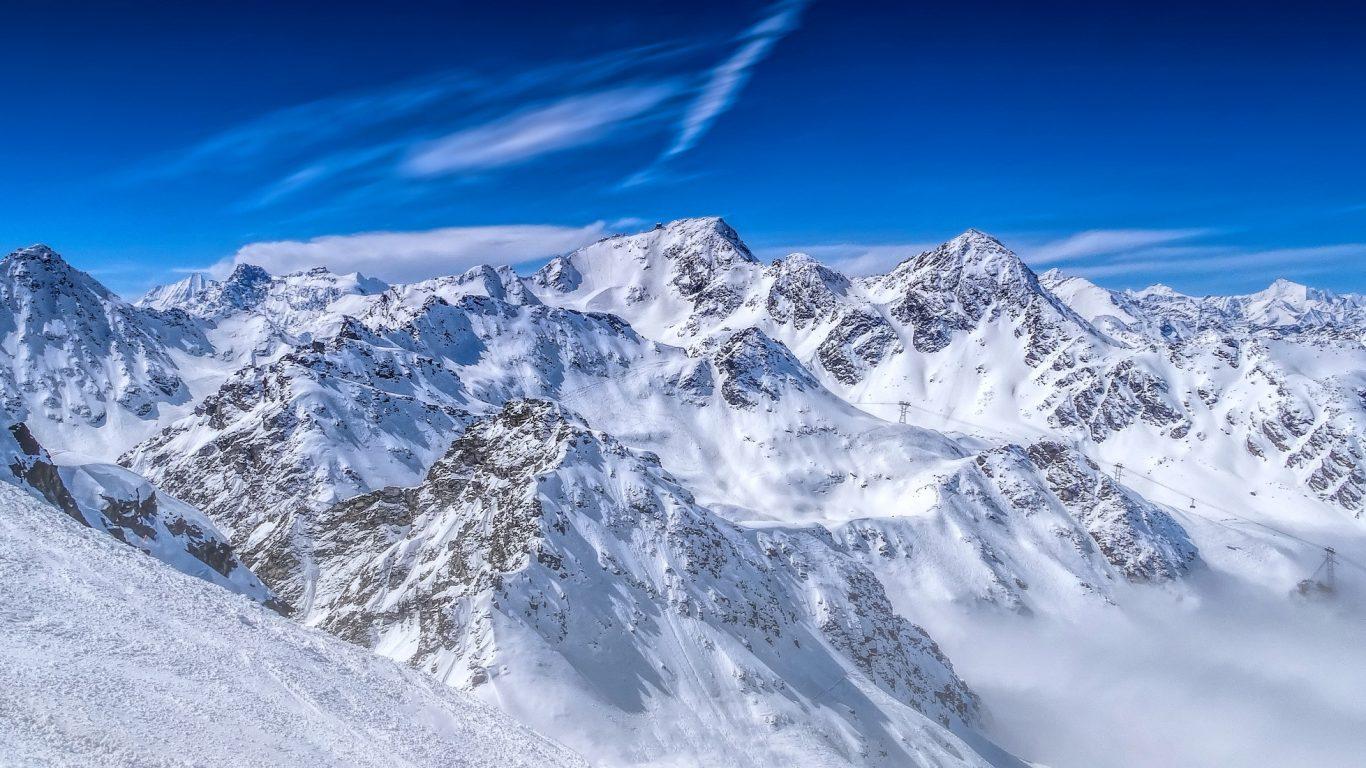 Snowy Mountains Austrian Alps Hd Wallpaper Hd Wallpaper