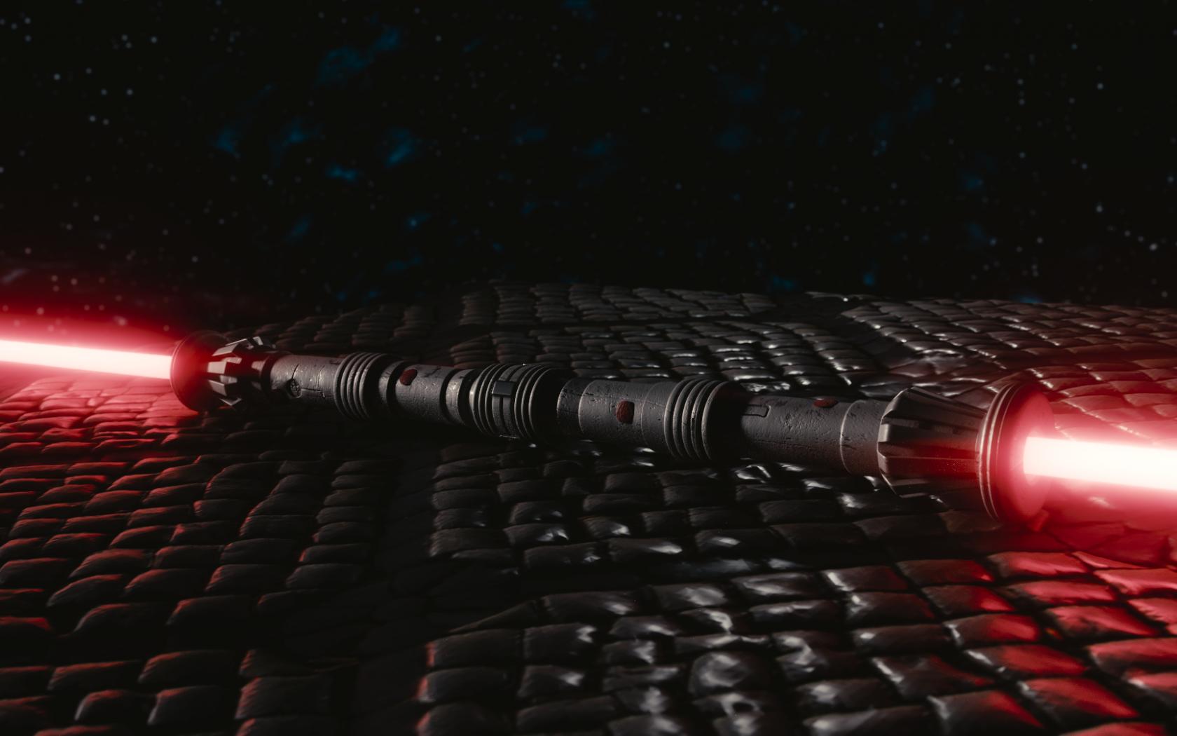Star Wars Darth Maul Lightsaber Hd Wallpaper