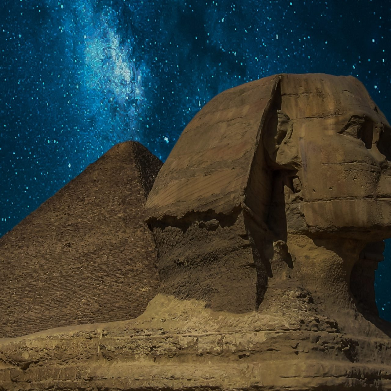 The Great Sphinx Of Giza With Milky Way HD Wallpaper