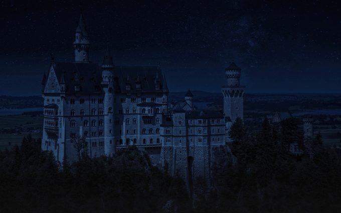 Neuschwanstein Castle At Night HD
