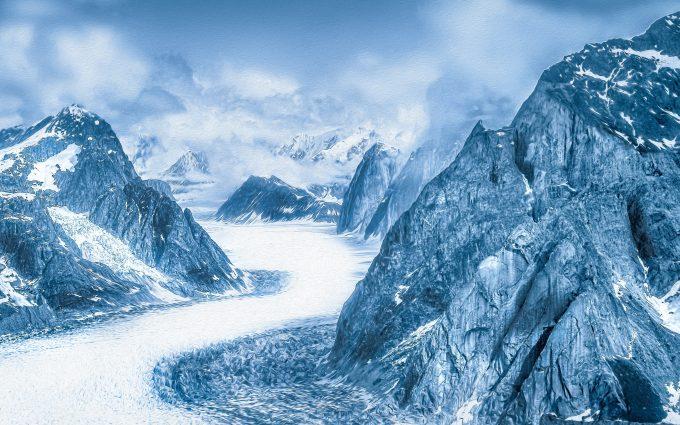 Snowy Mountains Alaska 4K