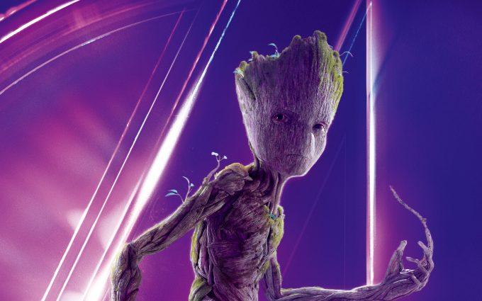 Avengers Infinity War 2018 Groot 8K Ultra HD