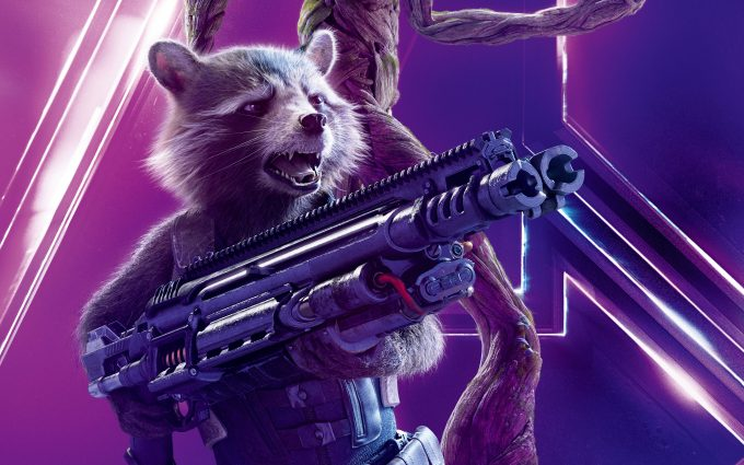 Avengers Infinity War 2018 Rocket Raccoon 8K Ultra HD