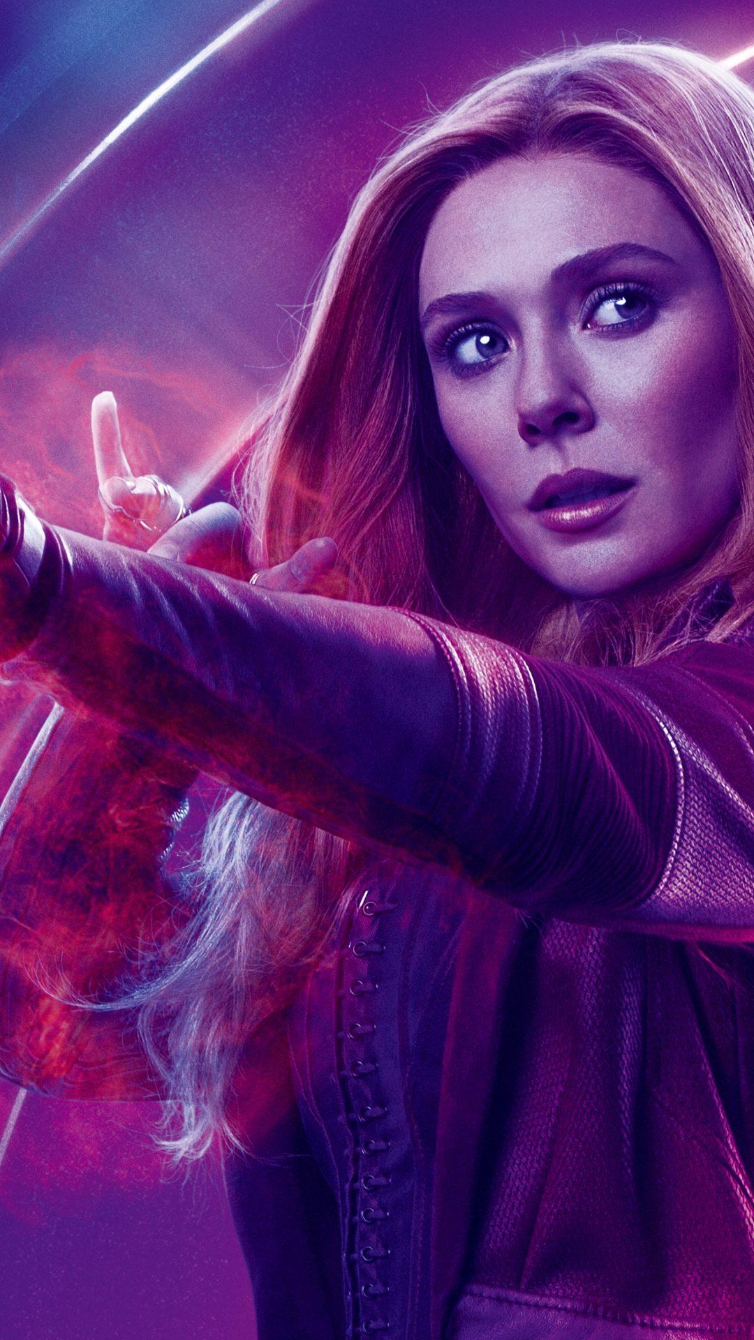 Avengers Infinity War 2018 Scarlet Witch 8K Ultra HD Wallpaper