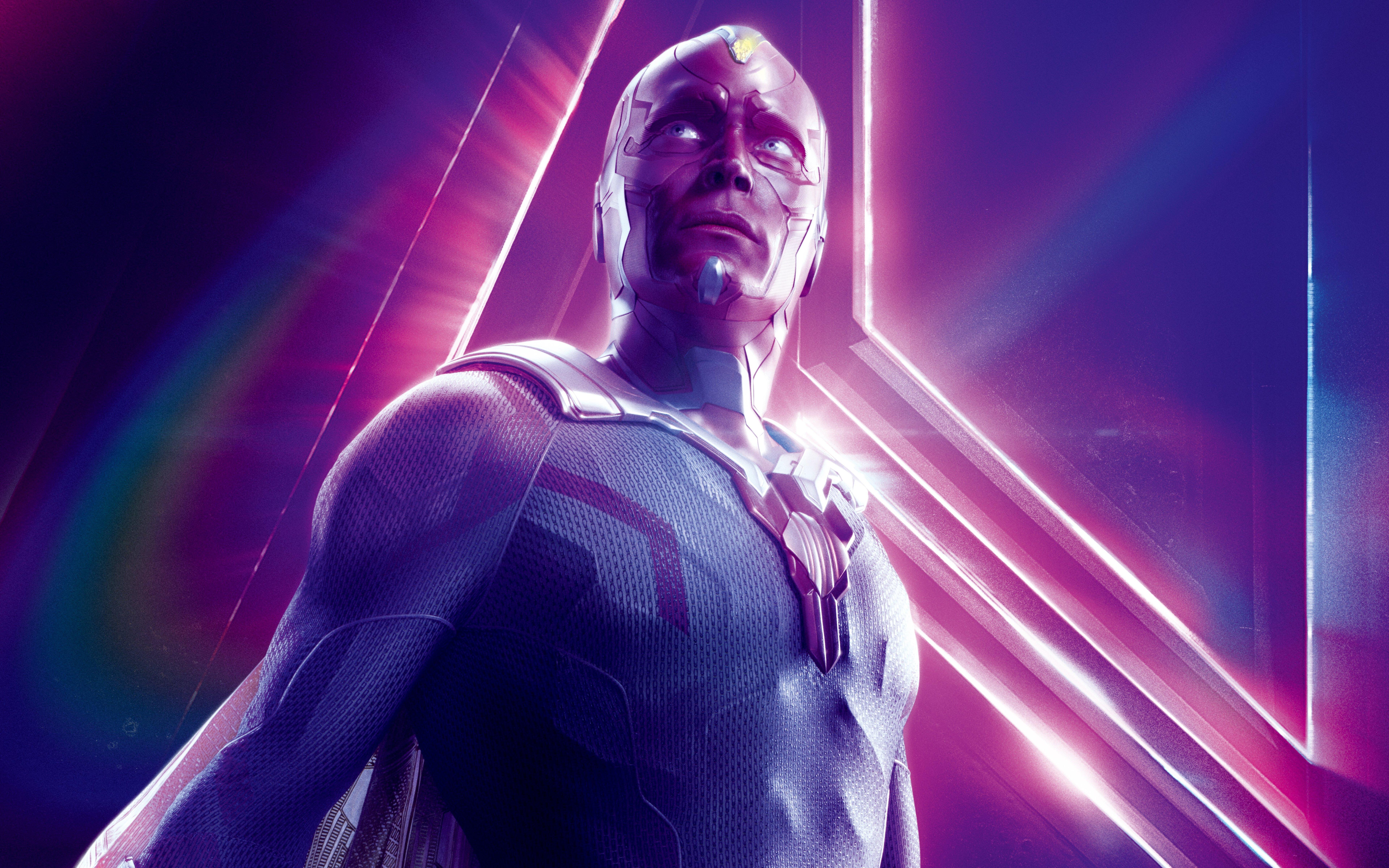 Avengers Infinity War 2018 Thanos 4k Uhd 3 2 3840x2560: Avengers: Infinity War (2018) Vision 8K Ultra HD Wallpaper